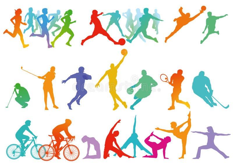 Sports et loisirs illustration libre de droits