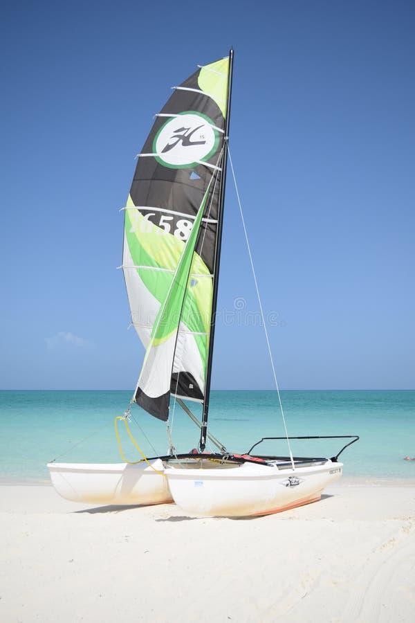 Sports exotiques dans une plage exotique au Cuba photos stock