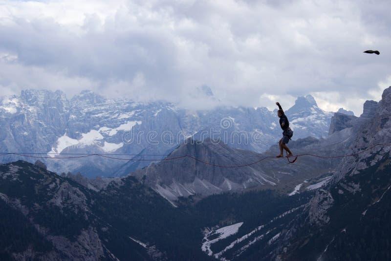Sports extrêmes dans les dolomites, Italie photographie stock