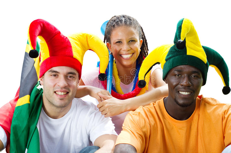 Sports fans stock photography