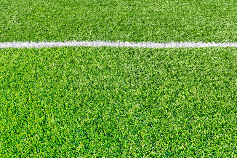 Sports field with white line royalty free stock images