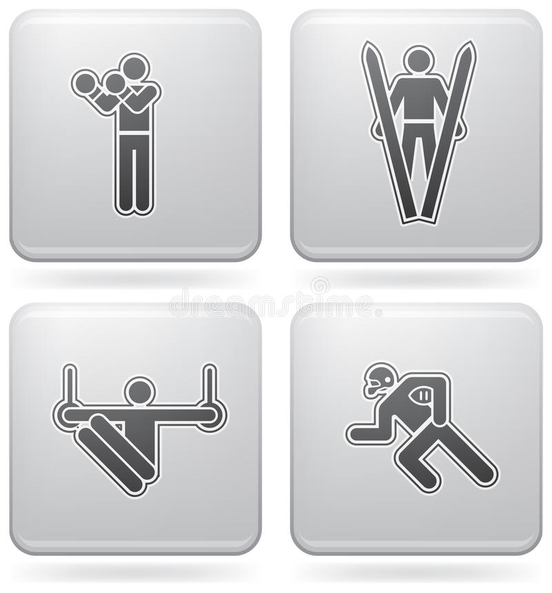 Download Sports figures stock vector. Illustration of grey, sportsman - 15373134