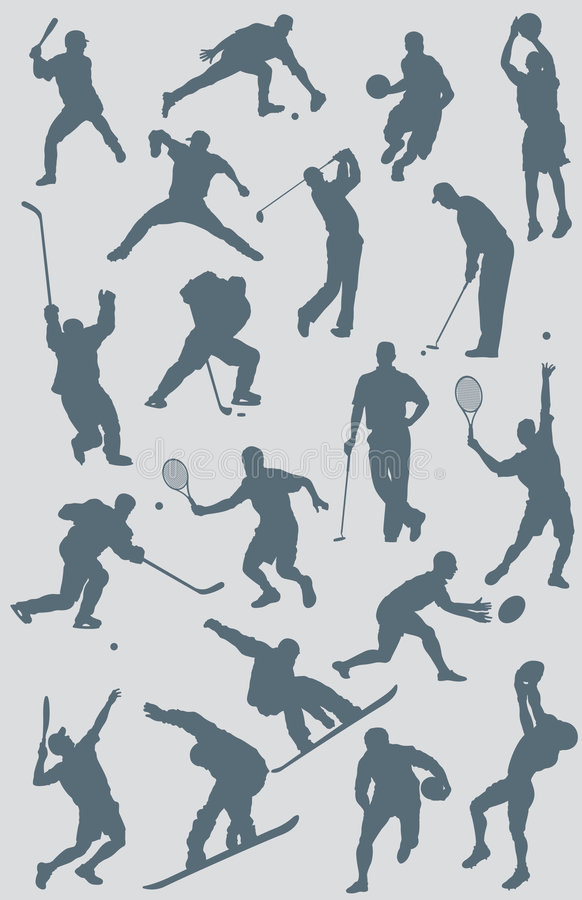 Free Sports Figures Vector Collection Stock Image - 5348121