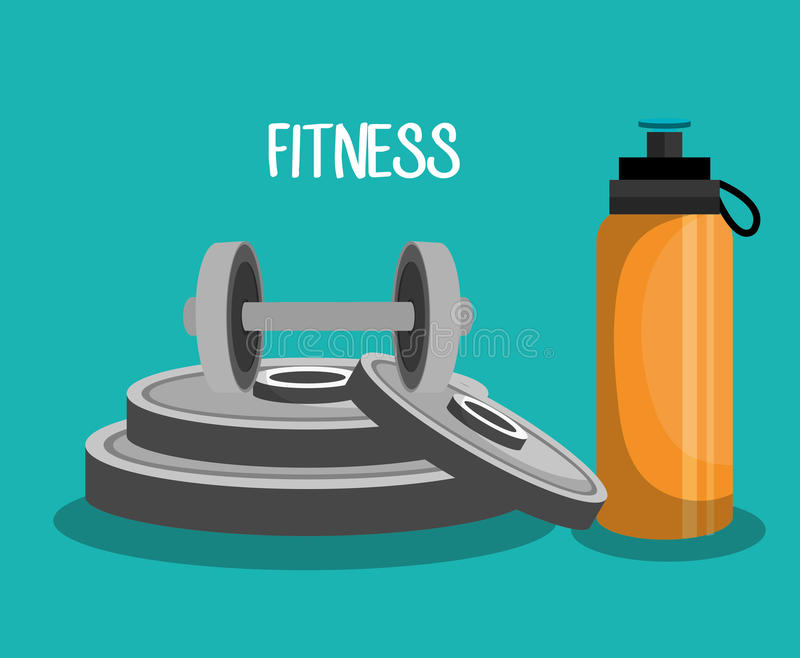 sports fitness design royalty free illustration