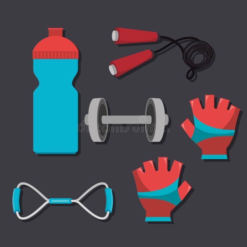 sports fitness design stock illustration
