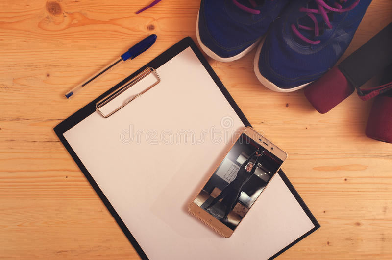 Sports and fitness equipment royalty free stock image