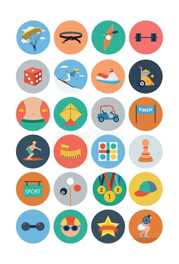 Sports Flat Icons - Vol 4 royalty free illustration