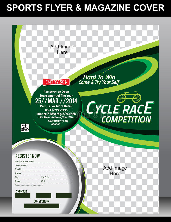 Sports Flyer & Magazine Cover Template Stock Vector - Illustration ...