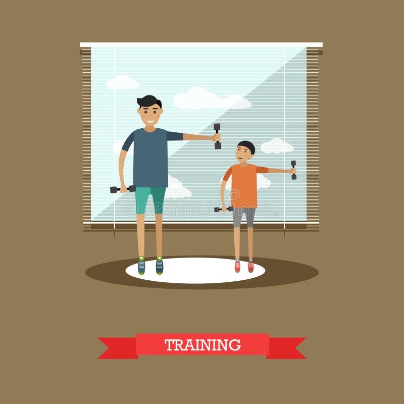 Sports formant l'illustration de vecteur de concept dans le style plat illustration libre de droits