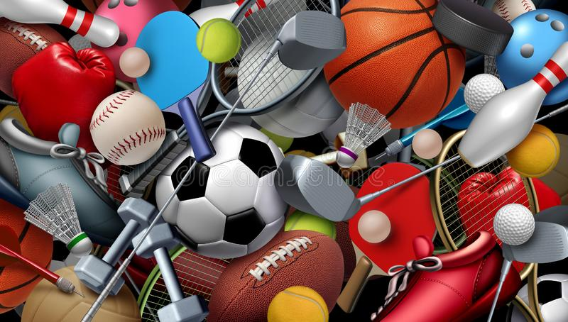Sports And Games Background royalty free illustration
