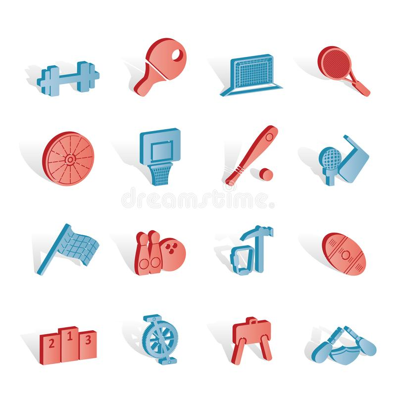 Download Sports gear and tools stock vector. Illustration of american - 14220558