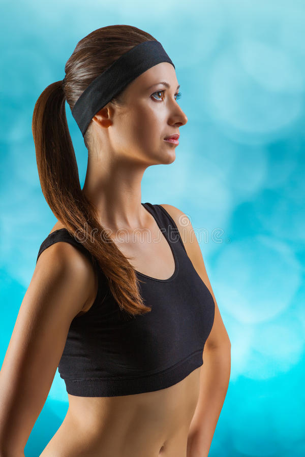 Download A sports girl stock image. Image of looking, person, arms - 27810761