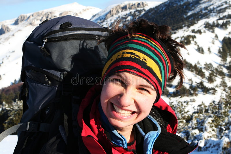 Download Sports girl stock photo. Image of outdoors, hiker, mountain - 4408416