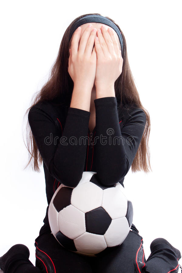 Download Sports Girl With A Football Stock Image - Image: 18312253