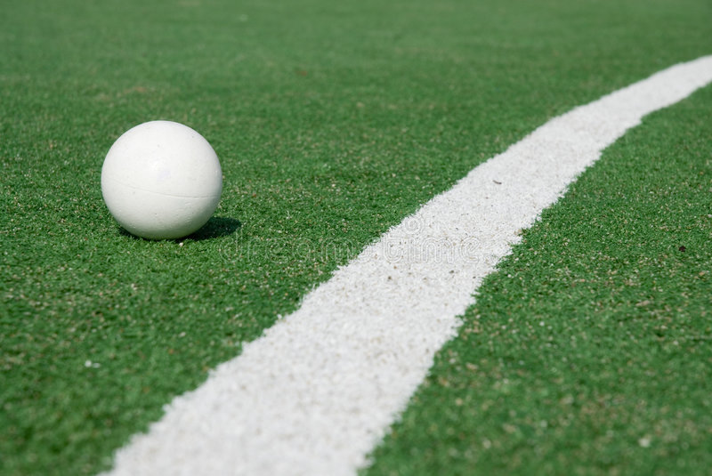 Sports-ground for hockey. Sports-ground with ball to play hockey royalty free stock images