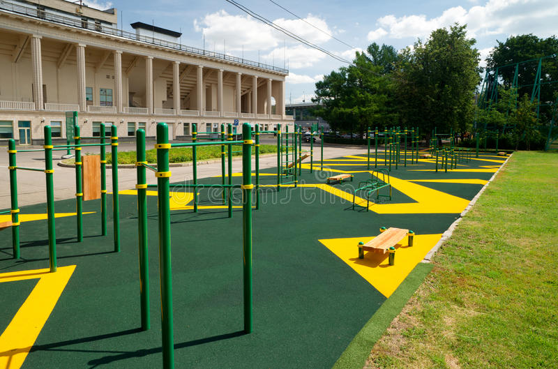 Download Sports Gymnastic Ground On The Street Stock Photo - Image: 25804200