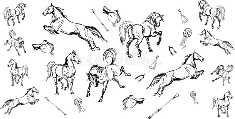 Saddles Stock Illustration Illustration Of Western