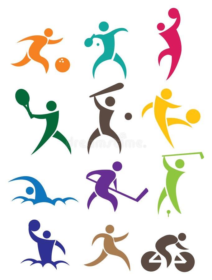 Sports icon stock illustration