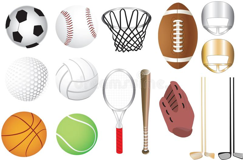 Download Sports Icons stock vector. Illustration of recreation - 15572481