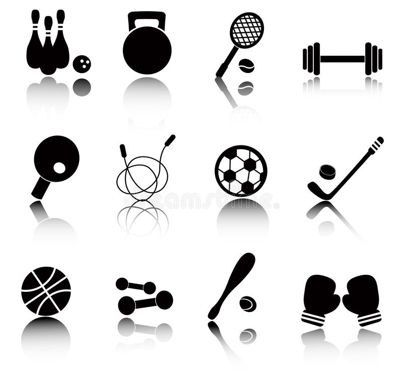 Download Sports icons stock vector. Illustration of line, dumbbells - 28561827