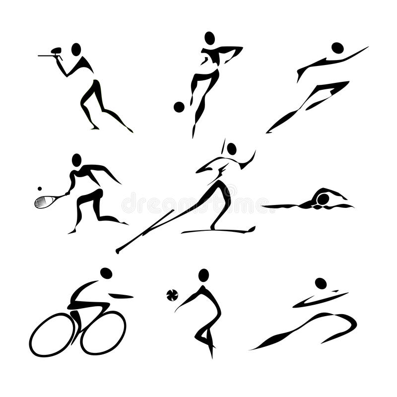 Sports icons collection vector illustration