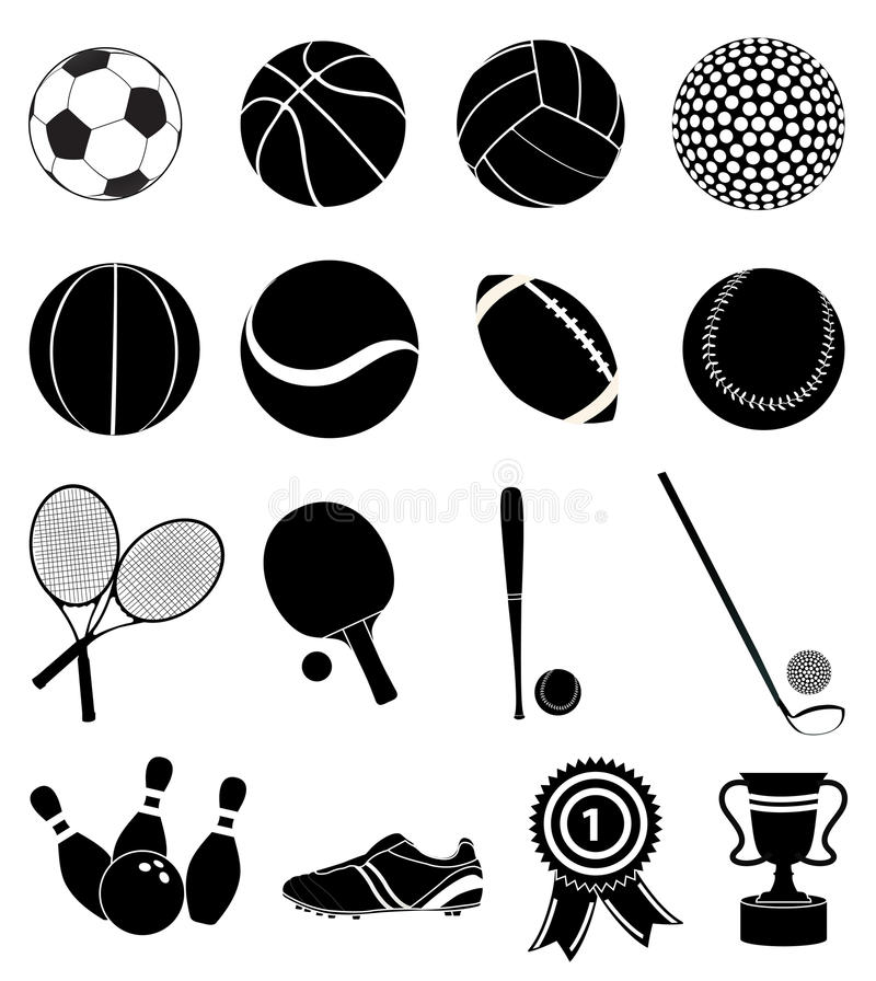 Sports icons set vector illustration