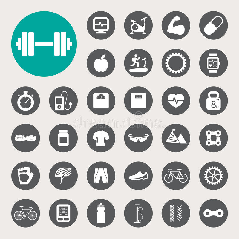 Download Sports Icons set. stock vector. Image of road, parts - 33317046