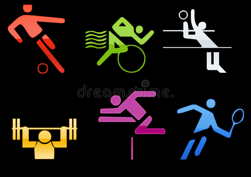 sports icons web2 stock illustration