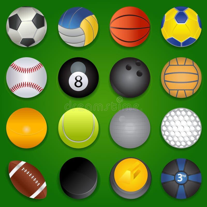 Sports Ikonen lizenzfreie abbildung