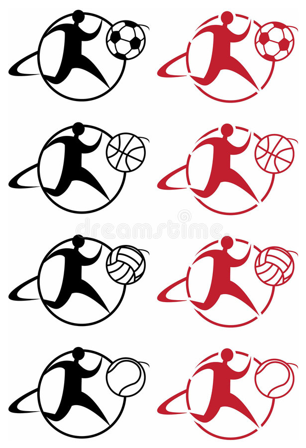 Free Sports Illustrated Icons Royalty Free Stock Photos - 9011708