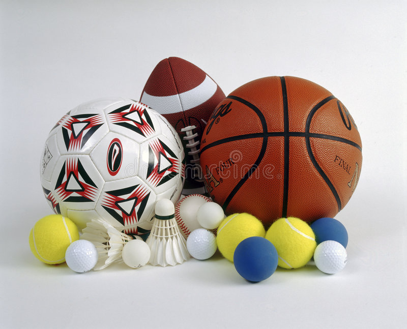 Sports Kugeln stockbilder