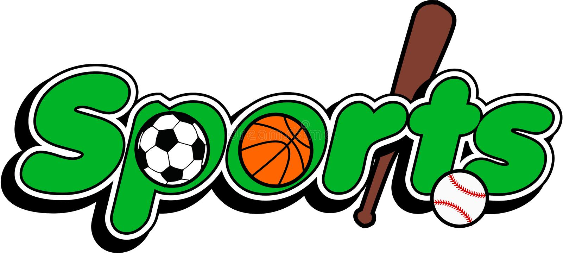 Sports Logo. Basketball, baseball bat, soccer, 3D logo vector illustration