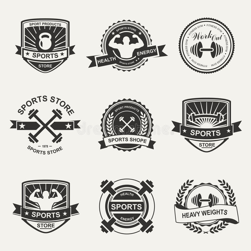 Sports logo stock illustration