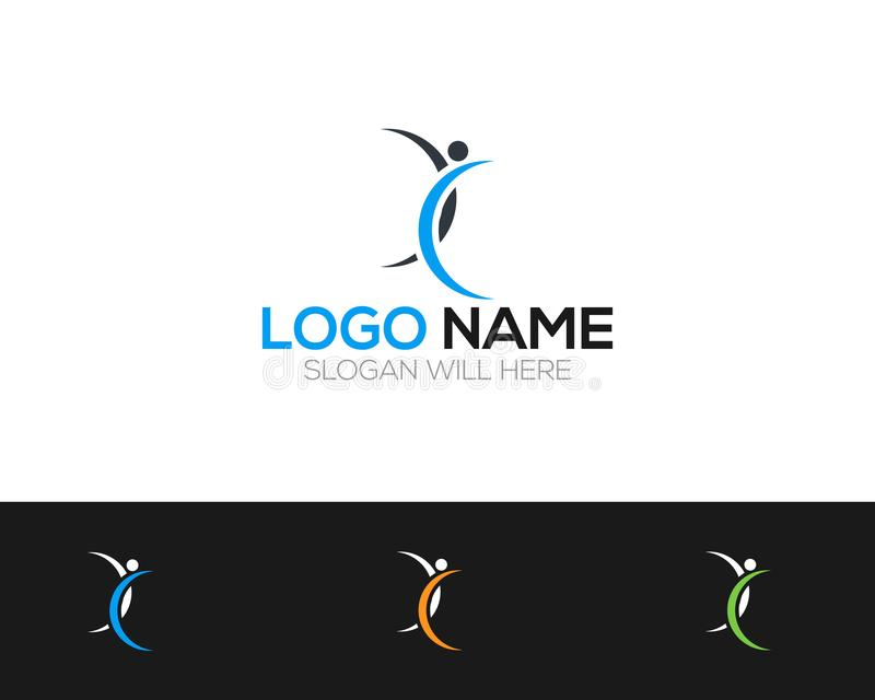 Sports Logo Template online store vectors illustration. This is very easy to use. U ca Use as your won simply royalty free illustration