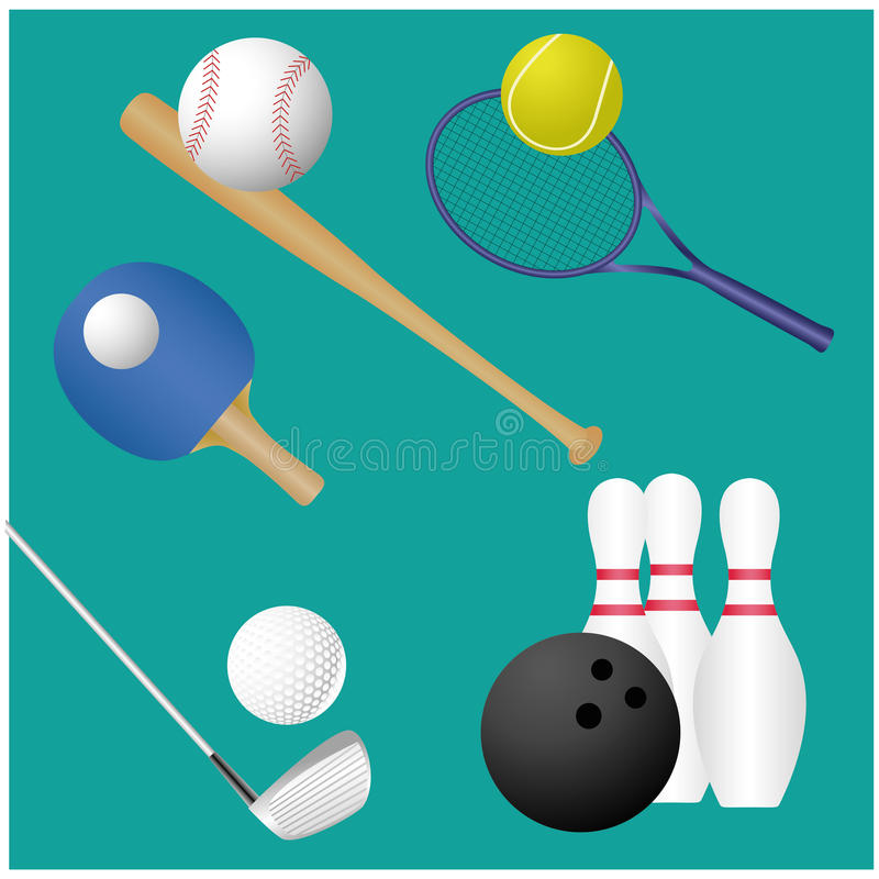 Download Sports stock vector. Image of design, golf, blue, equipment - 36078662
