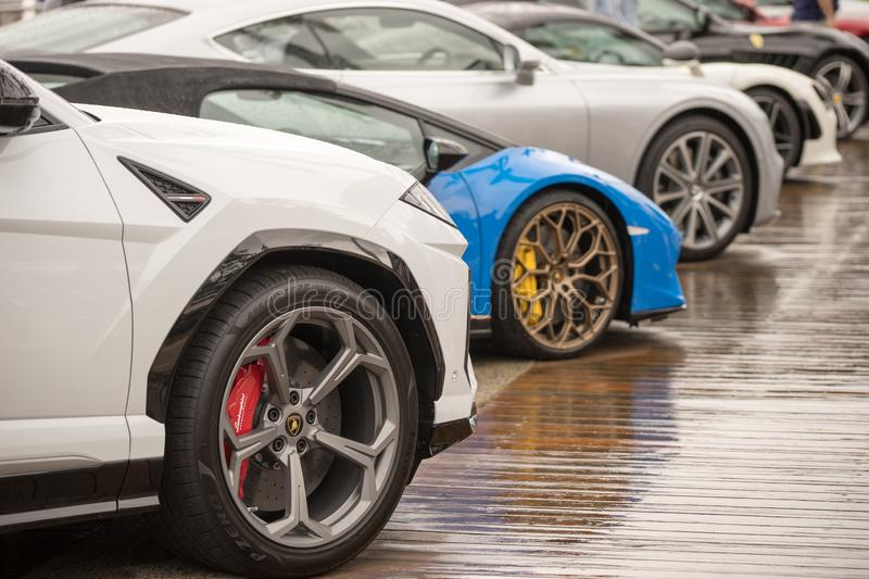 Sports And Luxury Car Exhibition royalty free stock photos