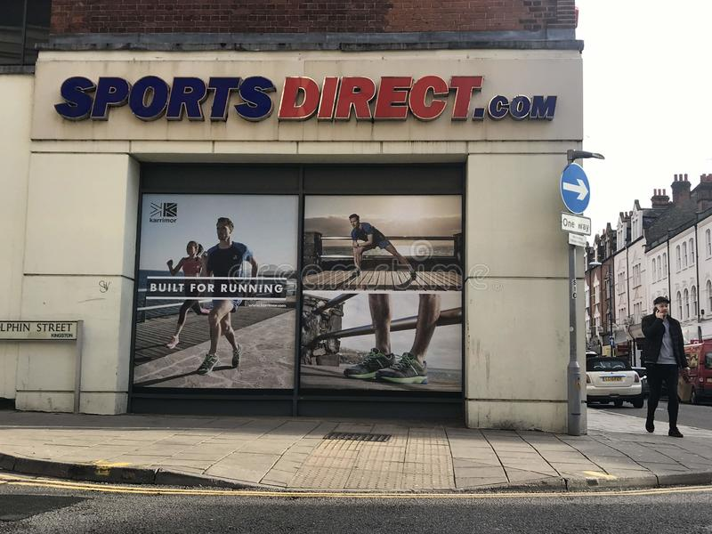 Sports magasin direct, Londres photographie stock