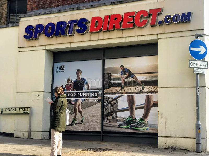 Sports magasin direct, Londres photos stock