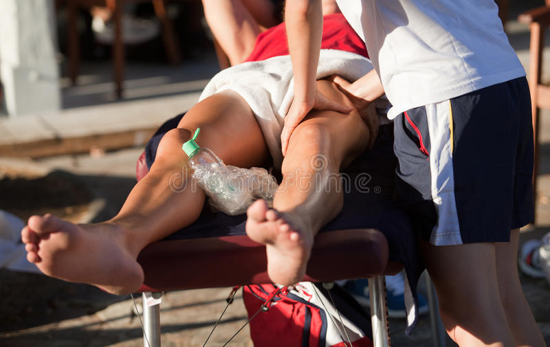 Sports massage royalty free stock photography
