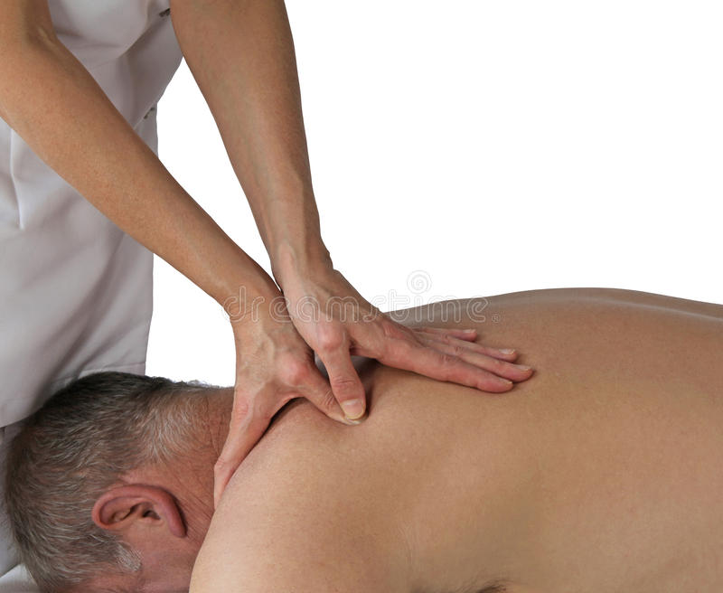 Sports Massage Technique stock images