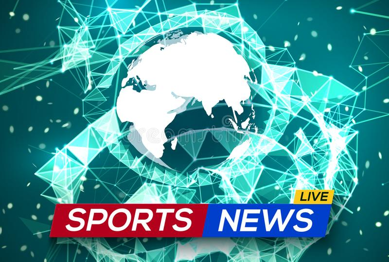 Sports news live with world map africa and europe stock vector download sports news live with world map africa and europe stock vector illustration of gumiabroncs Choice Image