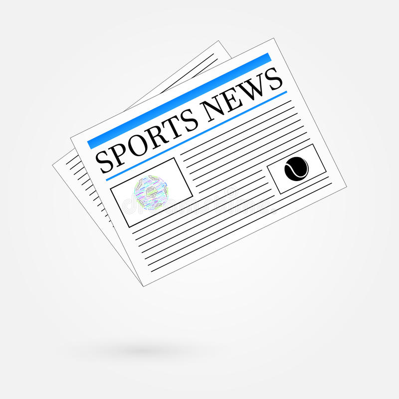 Download Sports News Newspaper Headline Front Page Stock Vector - Illustration of latest, newsprint: 35371876