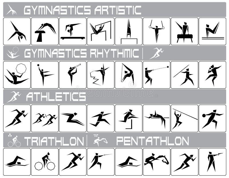 Sports olympiques illustration de vecteur