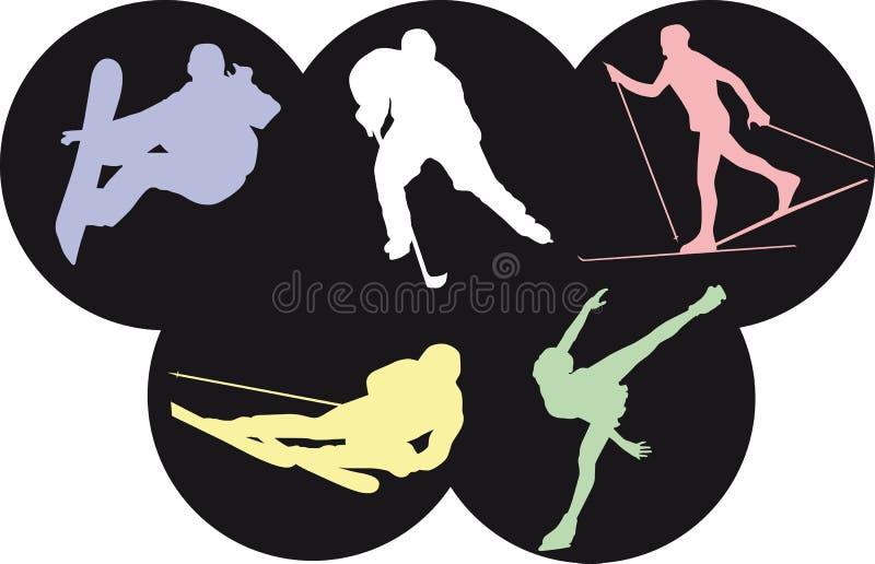 Sports olympiques de l'hiver illustration de vecteur
