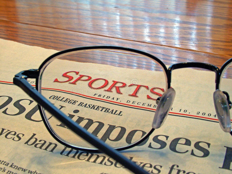 Sports Page royalty free stock photography