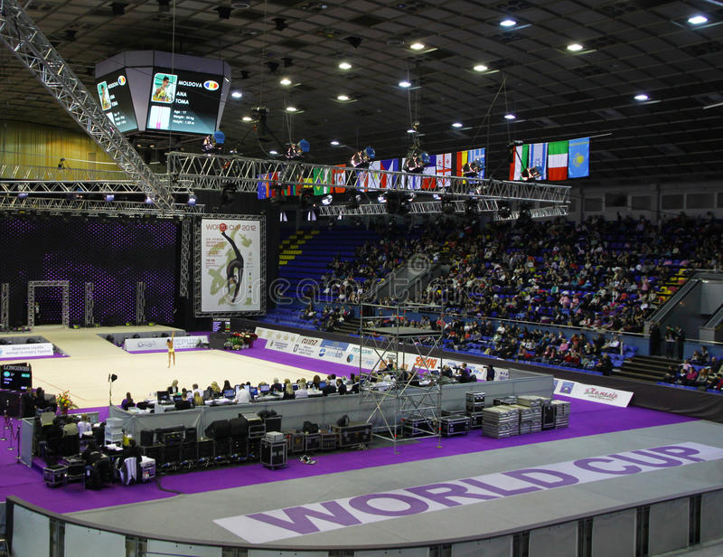 Sports Palace during Deriugina Cup in Kyiv