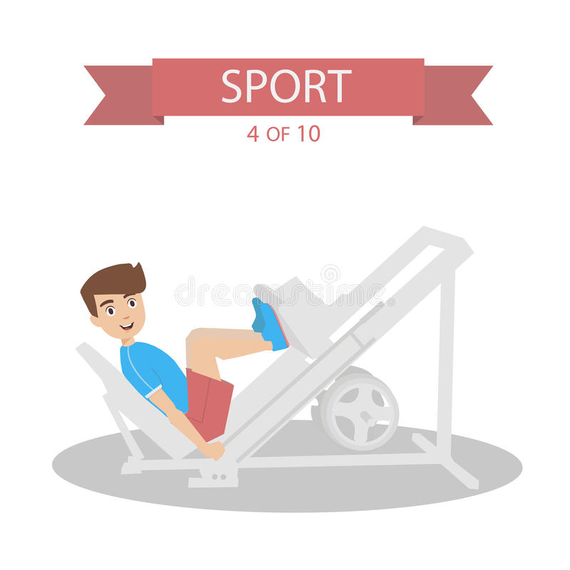 Sports People Vector royalty free stock photography