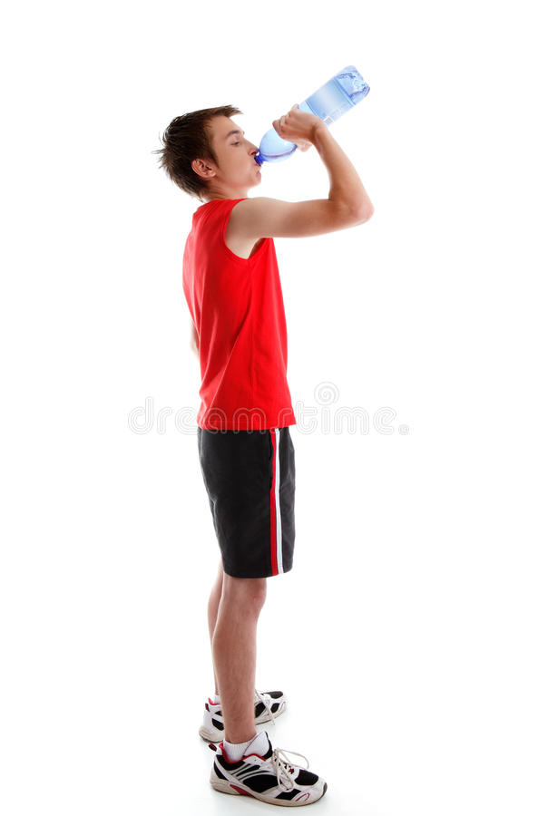 Download Sports Person Drinking Water From Bottle Stock Image - Image: 21276053