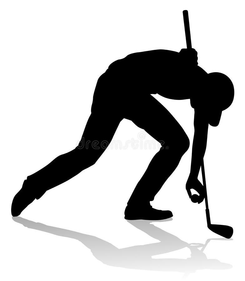 Sports Person Silhouette de golf de golfeur illustration libre de droits