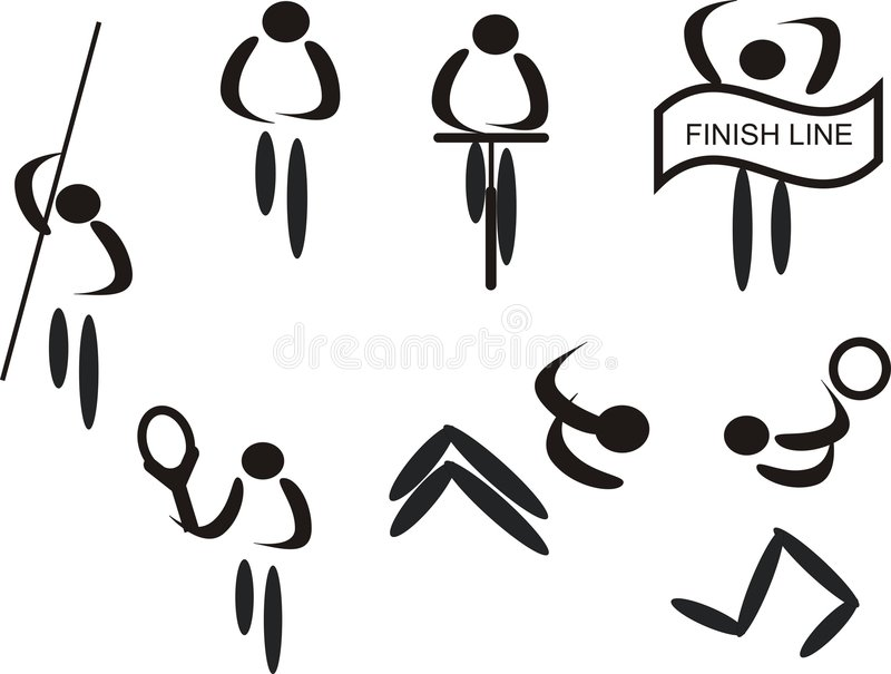 Sports pictograms royalty free illustration